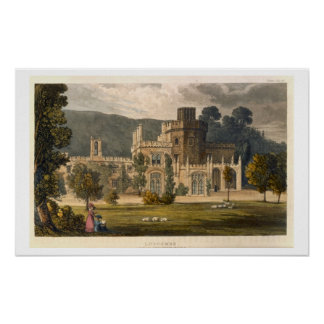 Luscombe Castle, Devon (colour litho) Poster