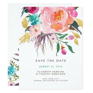 "Lush Bouquet Wedding Save the Date 4.25"" X 5.5"" Invitation Card"