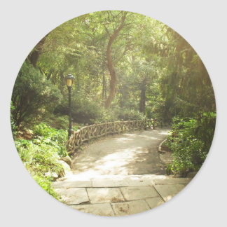 Lush Central Park Landscape, New York City Round Sticker