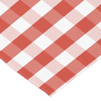 Lush Dahlia Red & White Gingham Check Plaid Long Table Runner