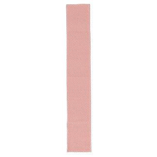 Lush Dahlia Red & White Micro Gingham Check Plaid Long Table Runner