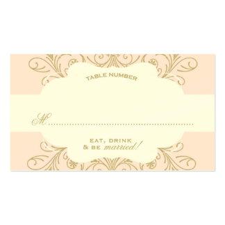Lush Flourish Place Card blush/gold Business Cards
