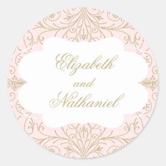 Lush Flourish Wedding Sticker blush/gold