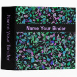 Lush Forest Green Music Notes Personalized Binder