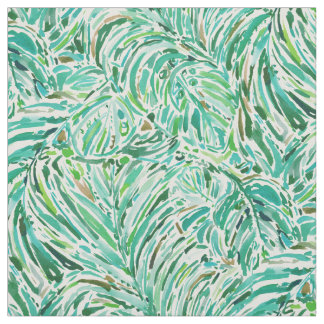LUSH FREEDOM Watercolor Palm Print Fabric