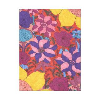 Lush Garden Boho Art Canvas Print