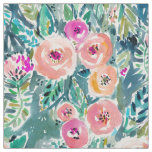 Lush Garden Watercolor Floral Fabric