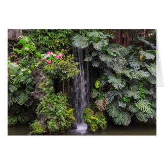 Lush Garden Waterfall, China Card