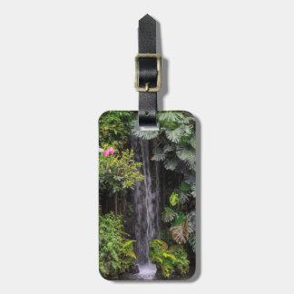 Lush Garden Waterfall, China Luggage Tag