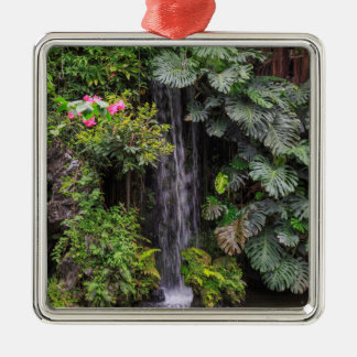 Lush Garden Waterfall, China Metal Ornament