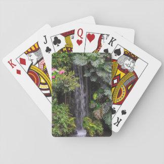Lush Garden Waterfall, China Playing Cards