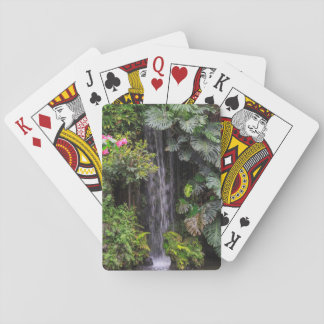 Lush Garden Waterfall, China Poker Deck