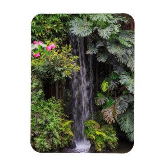 Lush Garden Waterfall, China Rectangular Photo Magnet