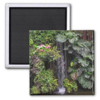 Lush Garden Waterfall, China Square Magnet