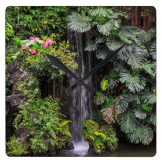 Lush Garden Waterfall, China Wallclock