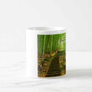 Lush Green Bamboo Forest with Old Irish Blessing Coffee Mug