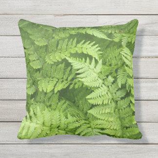 Lush Green Ferns Outdoor Pillow