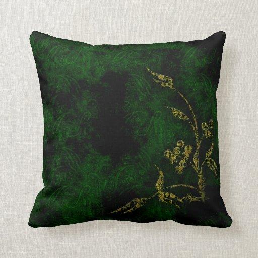 Lush Green Plant Life Throw Pillows
