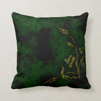 Lush Green Plant Life Throw Pillow