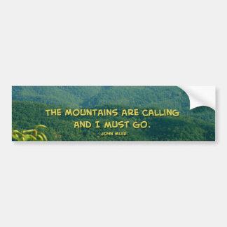 Lush Green Smoky Mtns /Mtns Calling! Bumper Sticker