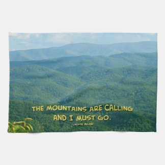 Lush Green Smoky Mtns /Mtns Calling! Kitchen Towel