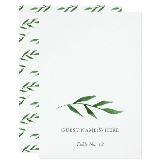 Lush Leaves Elegant Wedding Escort Card