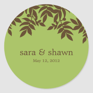 Lush Leaves Favor Stickers or Envelope Seals