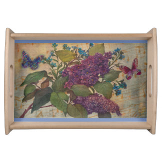 Lush Lilac & Butterflies Serving Tray