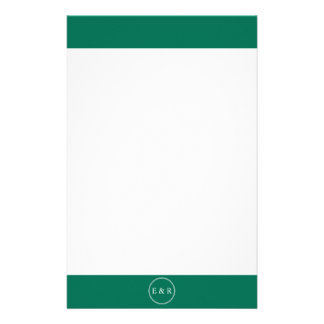 Lush Meadow Green with White Wedding Detail Personalized Stationery
