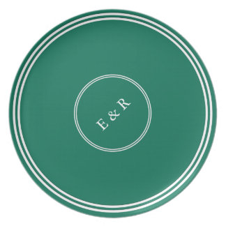 Lush Meadow Green with White Wedding Detail Plates