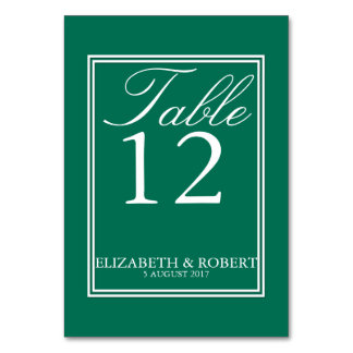 Lush Meadow Green with White Wedding Detail Table Cards
