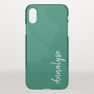 Lush Meadow Rich Green Modern Solid Color Custom iPhone X Case