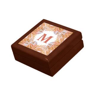 Lush of Autumn Leaves Personalized Keepsake Box