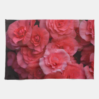 Lush Pink Double Begonia Kitchen Towel
