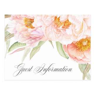 Lush Pink Peonies Floral Accommodations Postcard