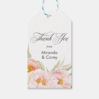 Lush Pink Peonies Floral Pack Of Gift Tags