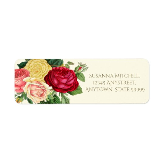 Lush Vintage Floral ID225 Return Address Label
