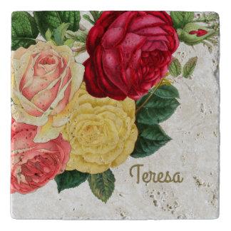 Lush Vintage Floral ID225 Trivet