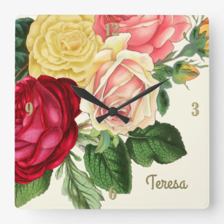 Lush Vintage Floral ID225 Wall Clock