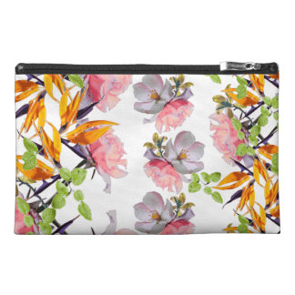 Lush Watercolor Florals by Zala02Creations Travel Accessory Bag