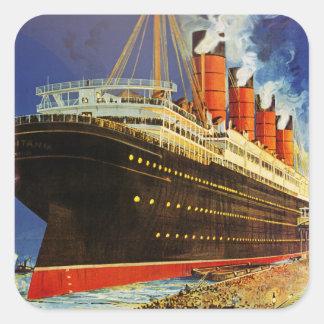 Lusitania Departing Square Sticker