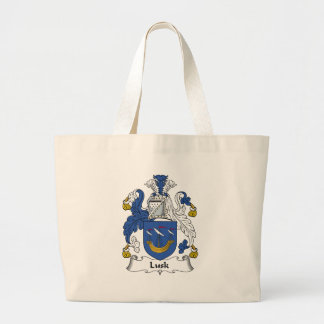 Lusk Family Crest Tote Bags