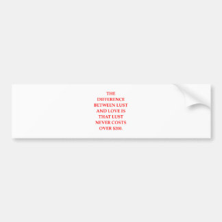 LUST BUMPER STICKER