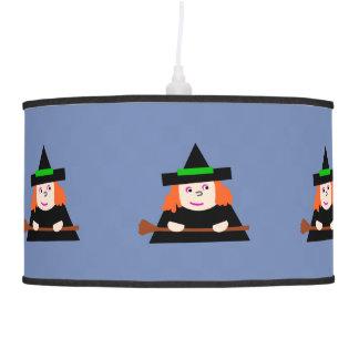Luster Blue Bruxinha Blue Chandelier Witch Pendant Lamp