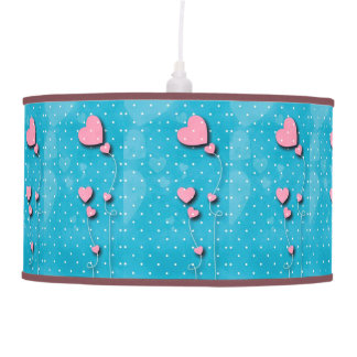 """Luster for fourth feminine """"Balloons of hearts """" Pendant Lamp"""