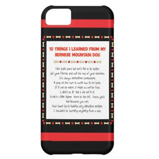 Lustige Sachen I gelernt vom Bernese Gebirgshund Cover For iPhone 5C