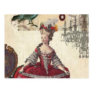 Lustre vintage Marie Antoinette Paris d oiseau Carte Postale
