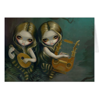 """Lute and Lyre"" Greeting Card"