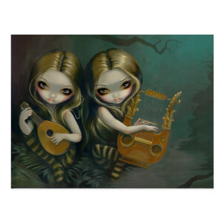 """""""Lute and Lyre"""" Postcard"""