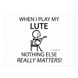 Lute Nothing Else Matters Postcards